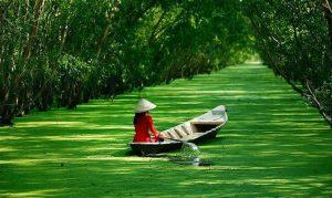 Đi thuyền trên sông nước An Giang