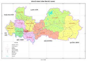 Bản đồ địa lý tỉnh Bắc Giang