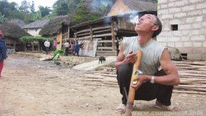 Khoảnh khắc bình yên nơi thôn bản
