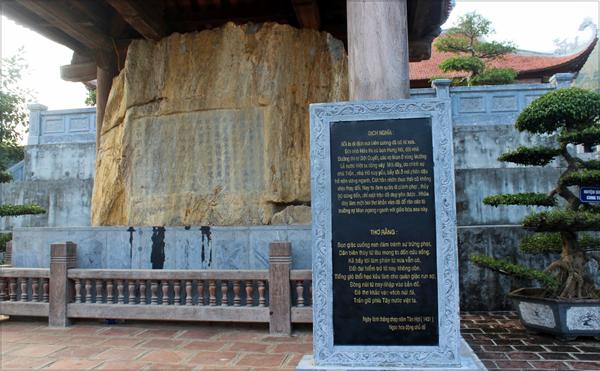 Bia Lê Lợi được khắc trong đợt thân chinh lên Tây bắc dẹp loạn và để răn đe tù trưởng vùng này