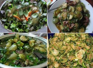 Cà  đắng được chế biến thành nhiều món khác nhau từ muối, nướng, đến nấu với ếch, lươn