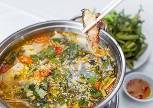 Cá tầm xương sụn, ngọt,thịt trắng, nấu với canh chua ngon , đậm đà