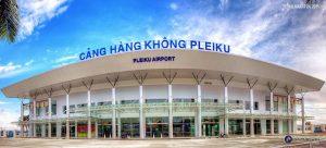 Cảng hàng không Pleiku nằm trong thành phố là phương tiện thuận tiện cho du lịch