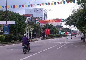 Đường phố ở thị trấn Chợ Mới