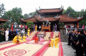 Một nghi thức trong lễ hội đền Hùng
