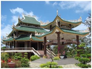 Đèn thờ Nguyễn Đình Chiểu ở Bến Tre