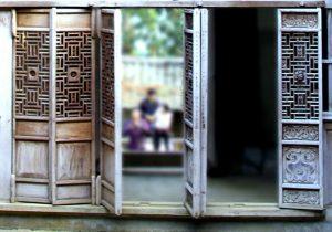 Cánh cửa mang nét kiến trúc Trung Hoa