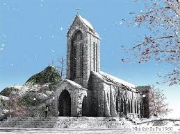 Nhà thờ đá Sa Pa nằm giữa trung tâm thị trấn Sapa