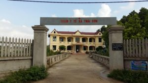 Trạm y tế xã ở Hiệp Hòa