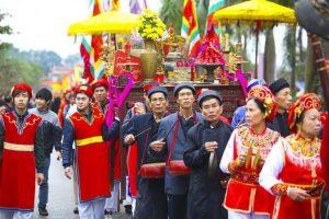 Lễ hội chùa Dâu rước tứ pháp