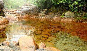 Độc đáo và lạ kỳ suối nước Vàng Bắc Giang