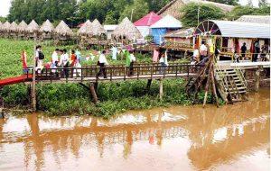 Khu du lịch Vĩnh Sang với nhiều trò chơi hấp dẫn.