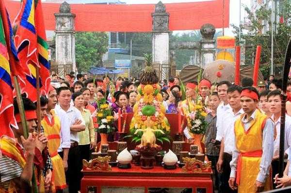 Một lễ hội tại đình Đào Xá