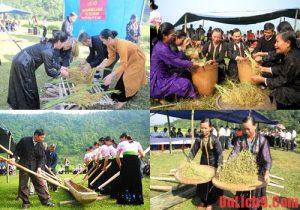Lễ hôi cốm mới người Thái ở Lai Châu