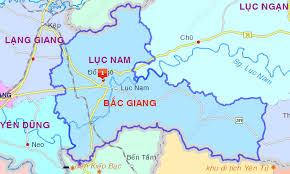 Bản đồ huyện Lục Nam