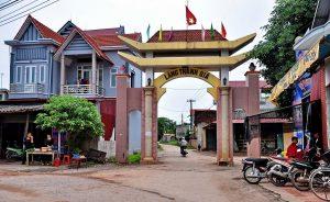 Cổng làng ở huyện Lục Nam