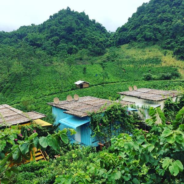 Mộc Châu Arena Village  với sự hìa hòa với khung cảnh thiên nhiên