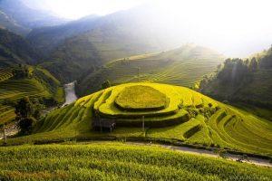 Mù Cang chải như những nấc thang lên trời xanh, đây là một trong những ruộng bậc thang đẹp nhất nước ta