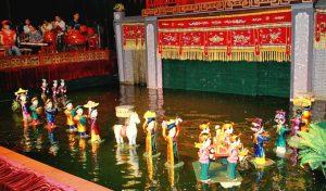 Múa rối nước Thanh Hải là loại hình nghệ thuật cổ truyền dân tộc