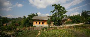 Nhà cộng đồng người Dao với thiết kế truyền thống