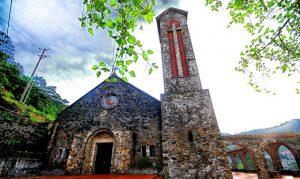 Nhà thờ đá Tam Đảo được người Pháp xây dựng trong thể kỷ 20