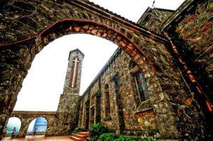 Mái vòm theo phong cách kiến trúc Châu Âu  tại nhà thờ đá
