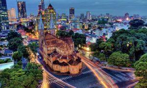 Nhìn ngắm nhà thờ Đức Bà Sài Gòn từ trên cao