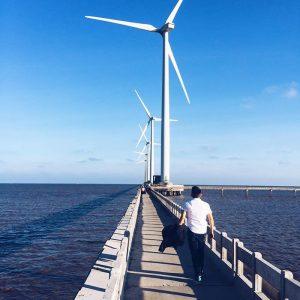 Cánh đồng điện gió là điểm Check in lý tưởng cho các bạn trẻ