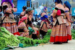 Khu chợ rau khá đa dạng ở chợ Sìn Hồ