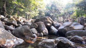 Những hòn đá cuối được dòng nước bào mòn ở thác Giải Oan
