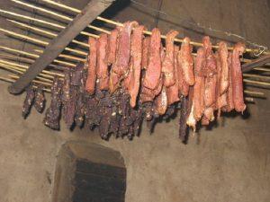 Thịt trấu gác bếp Yên Bái