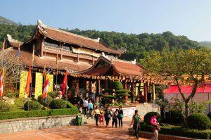 Ngôi chính điện thiền viện trúc lâm Yên Tử
