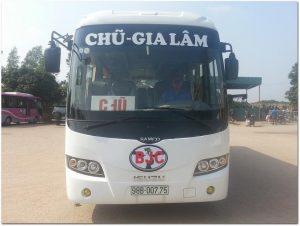 Xe khách về thành phố Bắc Giang
