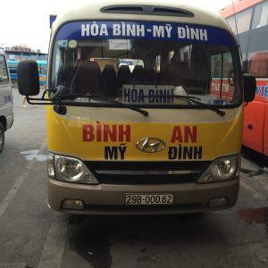 Phương tiện xe khách Hà Nội-Hòa Bình